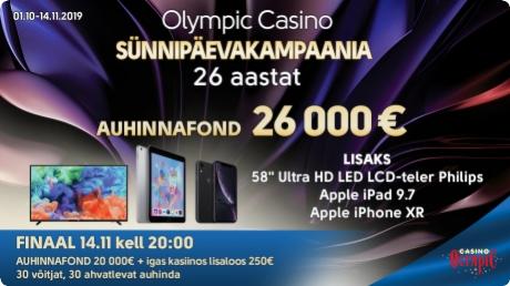 Olympic Casino sünnipäevakampaania FINAAL