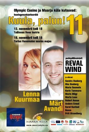 Lenna Kuurmaa ja Märt Avandi laulavad Maarja Küla toetuseks
