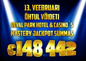 Mystery Jackpot of nearly €150,000 won in Reval Park Hotel & Casino