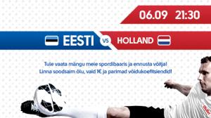 Spordiennustajad pakuvad Eesti-Hollandi mängu lõppskooriks 0:2