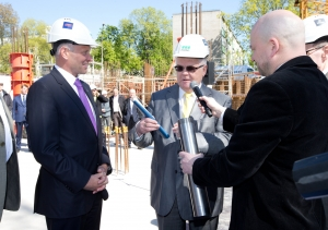Cornerstone laid for the Hilton luxury hotel