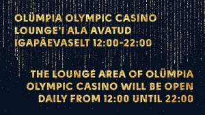 Tomorrow we will open the Olümpia OlyBet lounge area