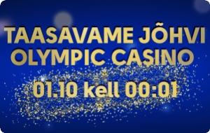 Taasavame Jõhvi Olympic Casino!