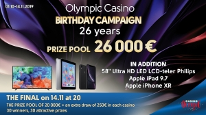 Olympic Casino anniversary campaign - 26 years