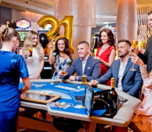 21+ / Package to enjoy the first casino experience
